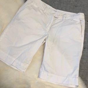Loft white Bermuda shorts sz.6
